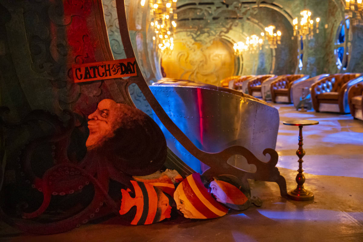 """Guests at the """"20,000 Leagues Under The Sea"""" tasting room can sip 105-proof whiskey. (Chase Ste ..."""
