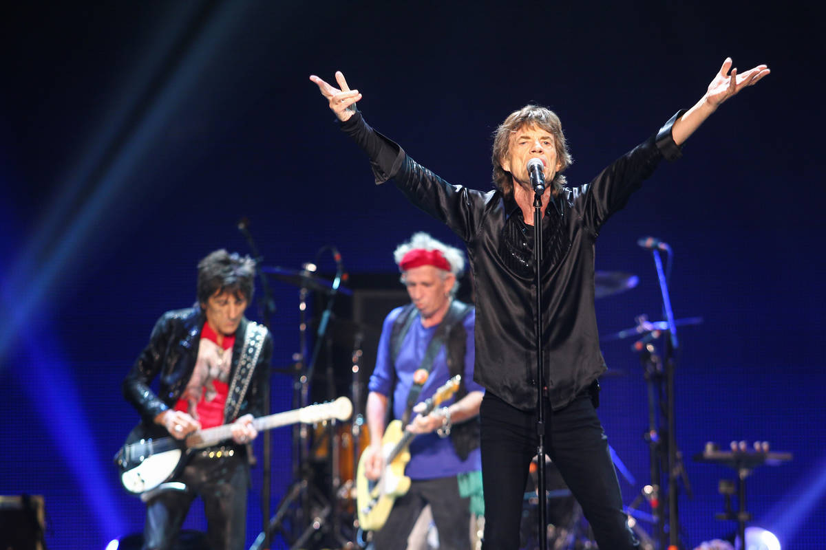 The Rolling Stones will return to Vegas for the time since 2016 in November. (Chase Stevens/Las ...