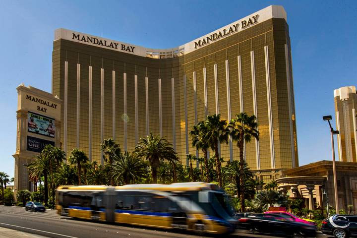 The Mandalay Bay nearly two years after a mass shooting occurred from there on the Las Vegas St ...