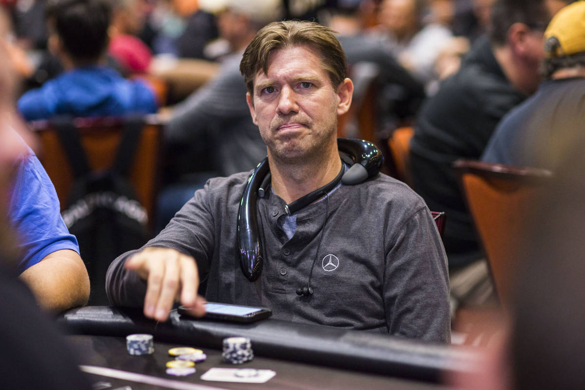 Layne Flack plays in a World Poker Tour event in Durant, Oklahoma, in 2018. (Joe Giron/World Po ...