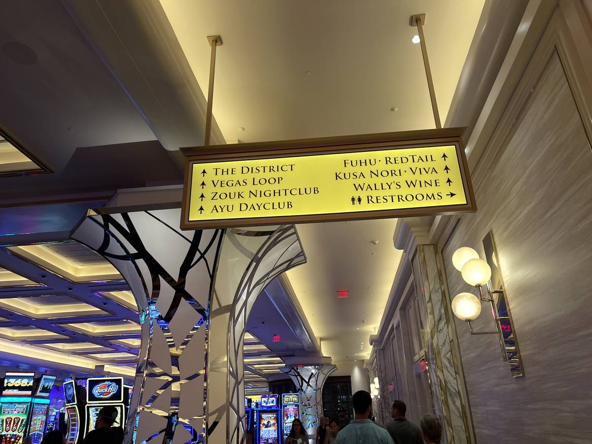 Way finding signage inside Resorts World Las Vegas already features their planned Boring Compan ...