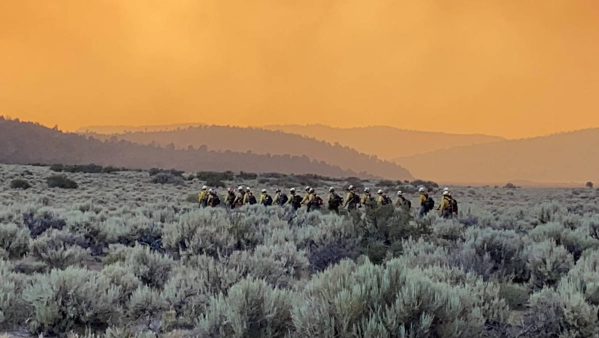 This Tamarack fire image was taken around Leviathan Mine Road, Nevada-California border on Wedn ...
