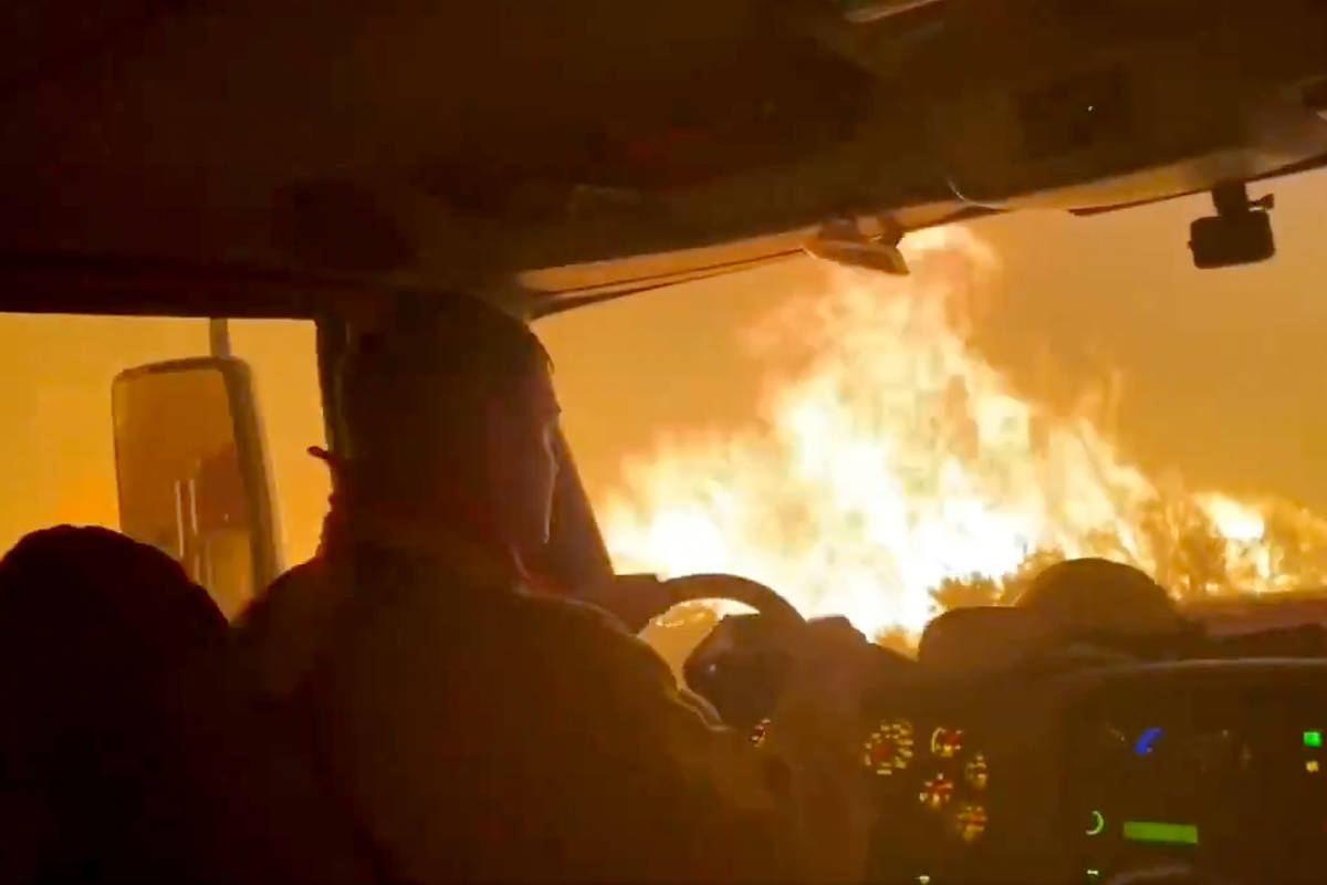 This screenshot from a Truckee Meadows Fire & Rescue's video released on Thursday, July 22 ...