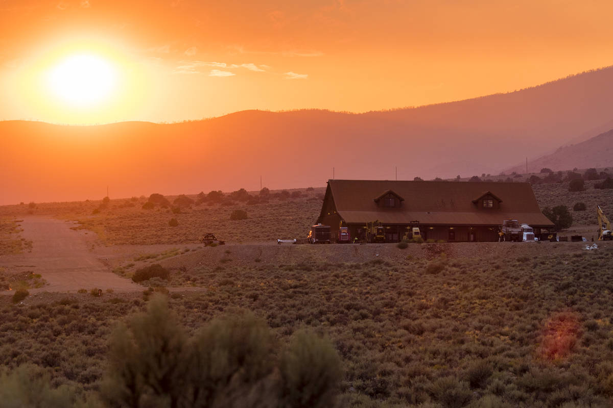 Sunset is seen as near Nevada State Route 208, east of Holbrook Junction in Nevada, Friday, Jul ...