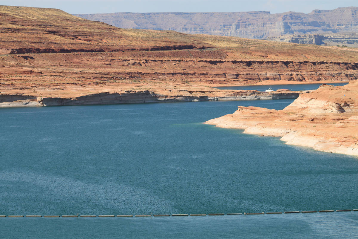 This Aug. 21, 2019 image shows Lake Powell near Page, Arizona. A plan by Utah could open the do ...