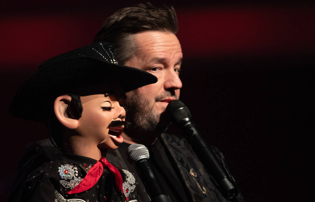 Terry Fator, shown with Walter T. Airdale, has returned to residency at New York-New York. (Tom ...