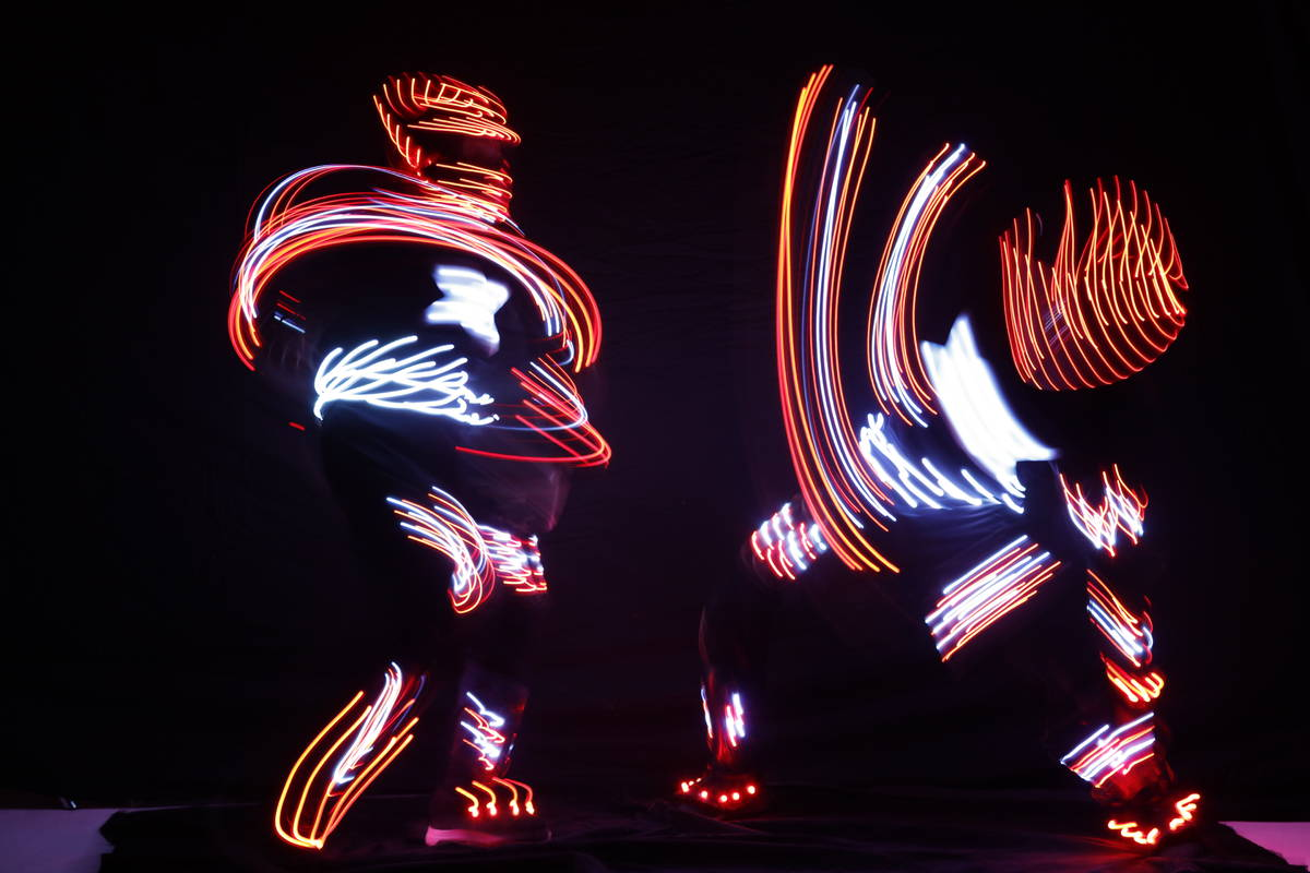 """A segment of """"iLuminate,"""" the new dance show opening Aug. 26 at The Strat Theater, is shown ..."""