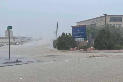 Heavy rainstorms produced flooding in Pahrump on Monday, July 26, 2021. (Nye County Sheriff's ...