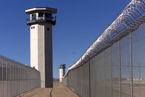 Guard towers at High Desert State Prison near Indian Springs. (Las Vegas Review-Journal/File)