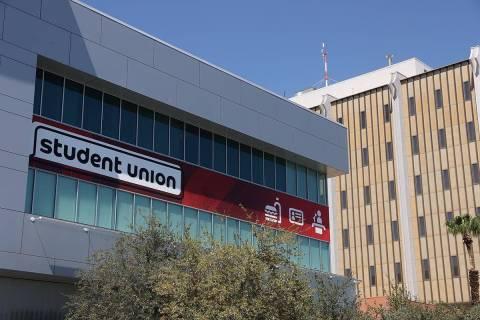 The Student Union building at UNLV in Las Vegas, Friday, Sept. 4, 2020. (Erik Verduzco / Las Ve ...