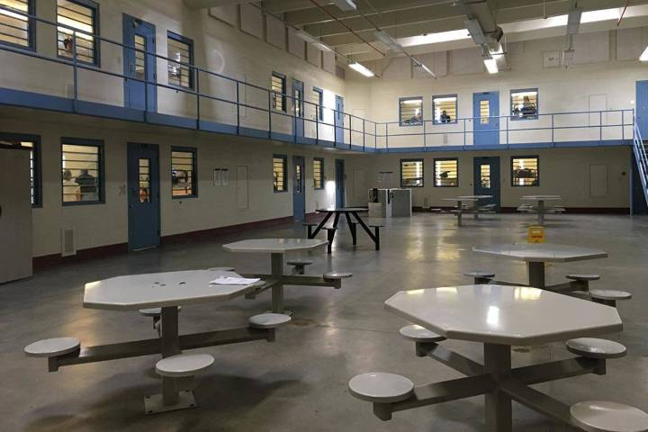 A recreational area for inmates at Florence McClure Women's Correctional Center is pictured. (B ...