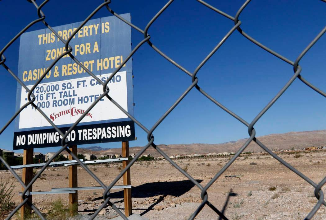 A vacant land photographed on Friday, Aug. 18, 2017, where Station Casinos plans to build Resor ...