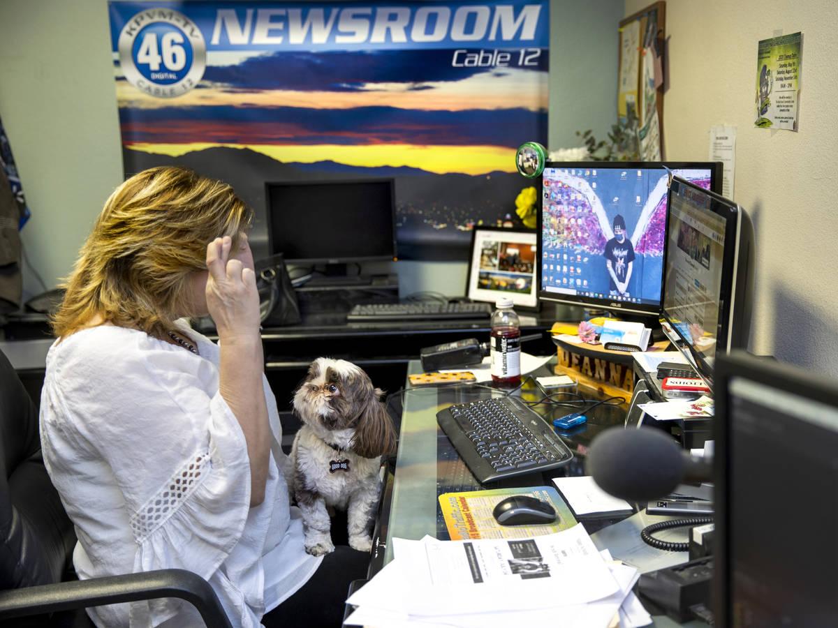 KPVM 25 News Director/Anchor Deanna O'Donnell hopes for a positive outcome while checking a sto ...