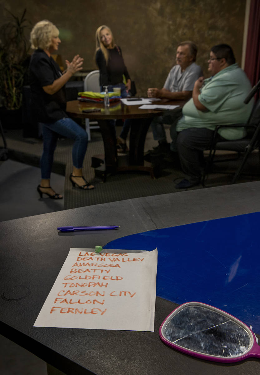 (From left) KPVM 25 Co-Owner/Vice President Ronda Van Winkle talks about some local goings on w ...
