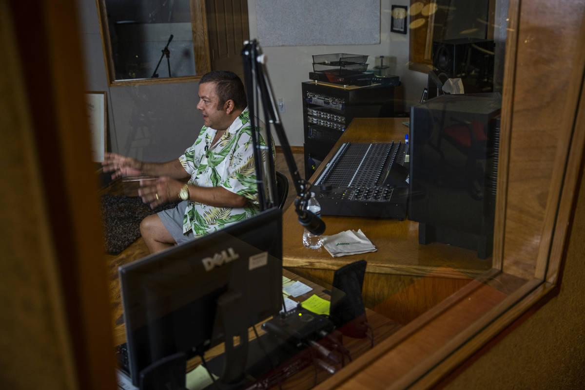 KPVM 25 Weatherman John Kohler talks in one of the recording studios, the station is the settin ...
