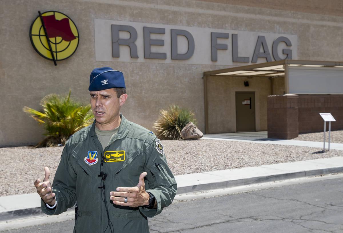 Col. Brandon Tellez, the 1st Operations Group (Joint Base Langley-Eustis) commander, talks abou ...