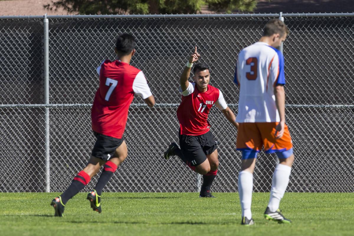 Former UNLV and Las Vegas High soccer star Joaquin Rivas scored two goals in El Salvador's Gold ...