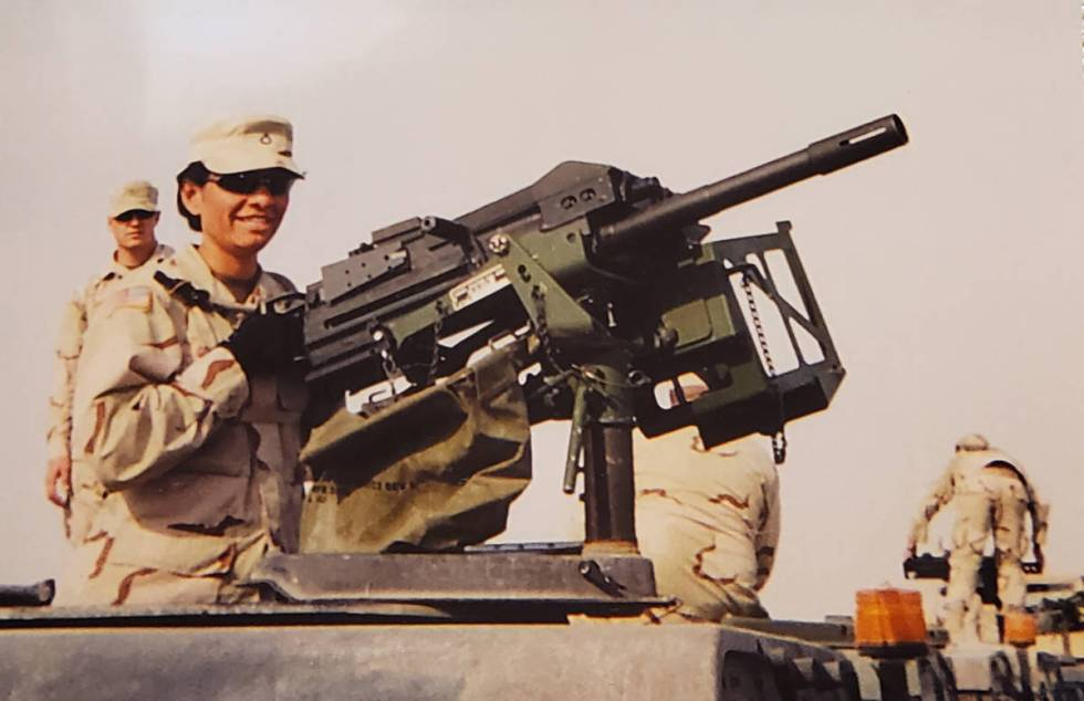 Nevada Army Guard Pfc. Blanca Taylor poses for a photo during her 2005 deployment to Afghanista ...