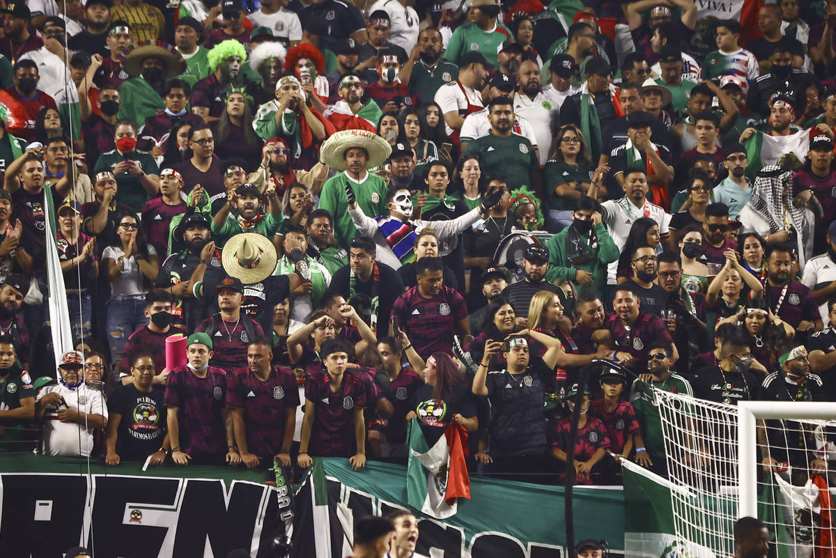 Mexico fans watch the game during extra time in the Concacaf Gold Cup final soccer match agains ...