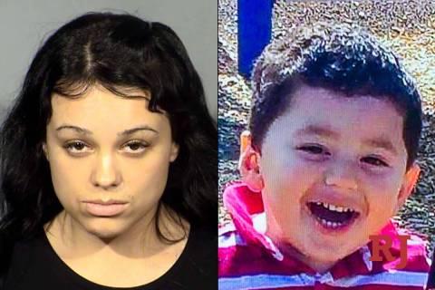 Samantha Moreno Rodriguez, left, Liam Husted, right. (Las Vegas Metropolitan Police Department)
