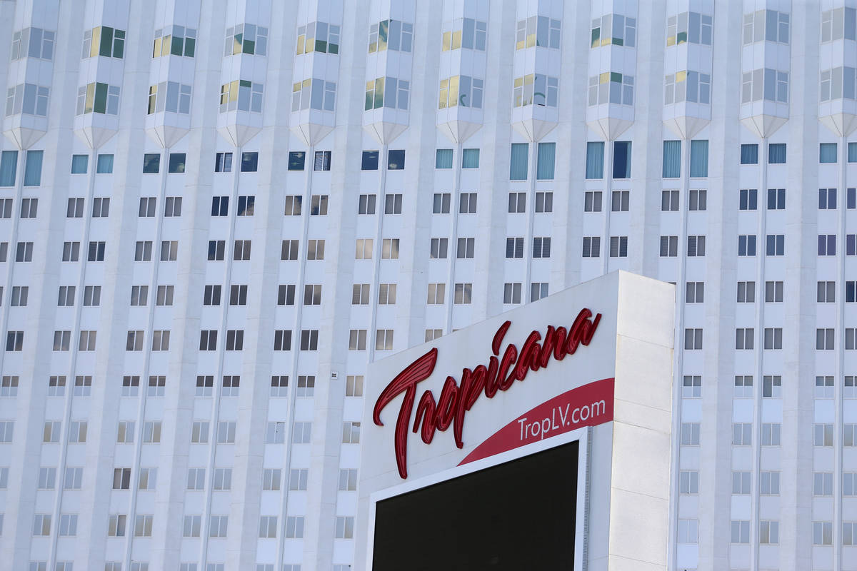 Tropicana hotel-casino in Las Vegas, Monday, July 27, 2020. (Erik Verduzco / Las Vegas Review-J ...