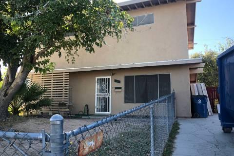 Outside of 3105 Parkdale Avenue in September 2019. (Katelyn Newberg/ Las Vegas Review-Journal)