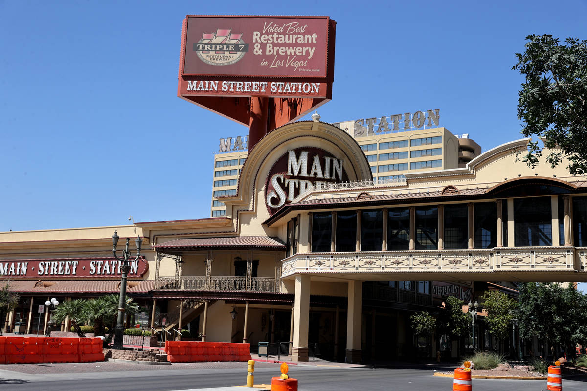 Main Street Station in downtown Las Vegas Monday, Aug. 9, 2021. The hotel-casino, that has been ...
