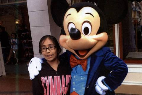 This undated photo shows Jazmin Honorato Espana at Disneyland. Jazmin, 11, was struck and kille ...