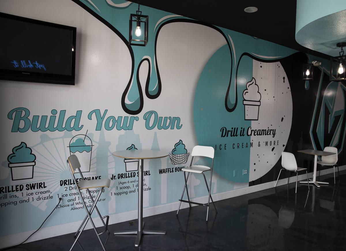 Drill It Creamery in Las Vegas. (Bizuayehu Tesfaye/Las Vegas Review-Journal) @bizutesfaye