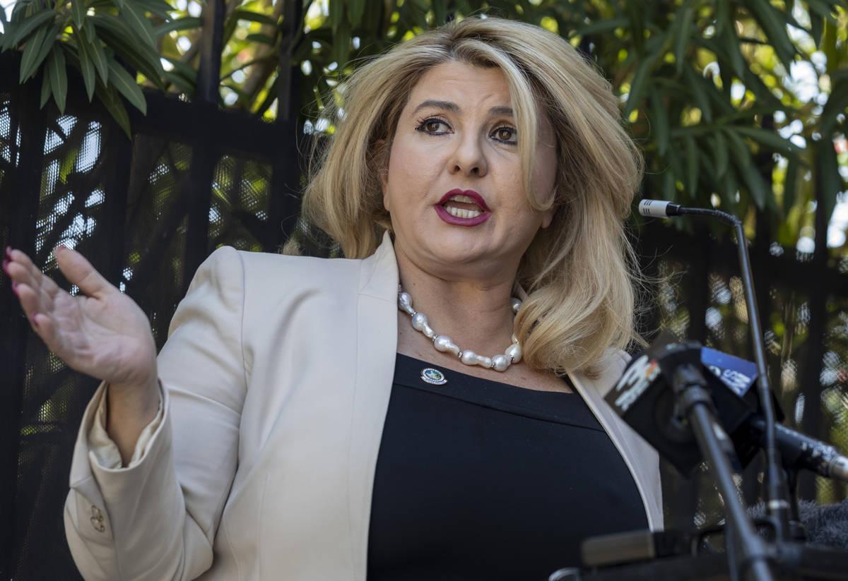 This June 11, 2020, file photo shows Las Vegas Councilwoman Michele Fiore in Las Vegas. (Elizab ...
