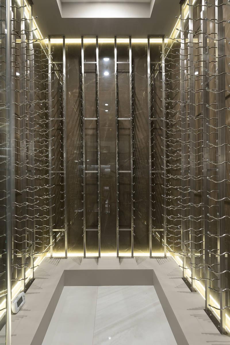 The wine room. (Kristen Routh-Silberman)