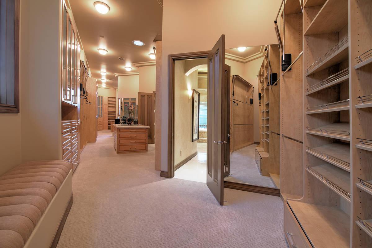 The master closet in Nicolas Cage's former Las Vegas home. (Las Vegas International Realty)