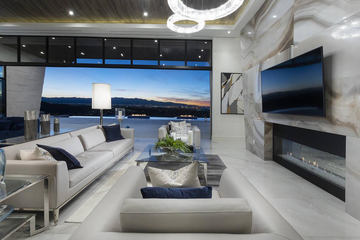 Las Vegas architect Richard Luke designed this 10,030-square-foot home in the Henderson hillsid ...