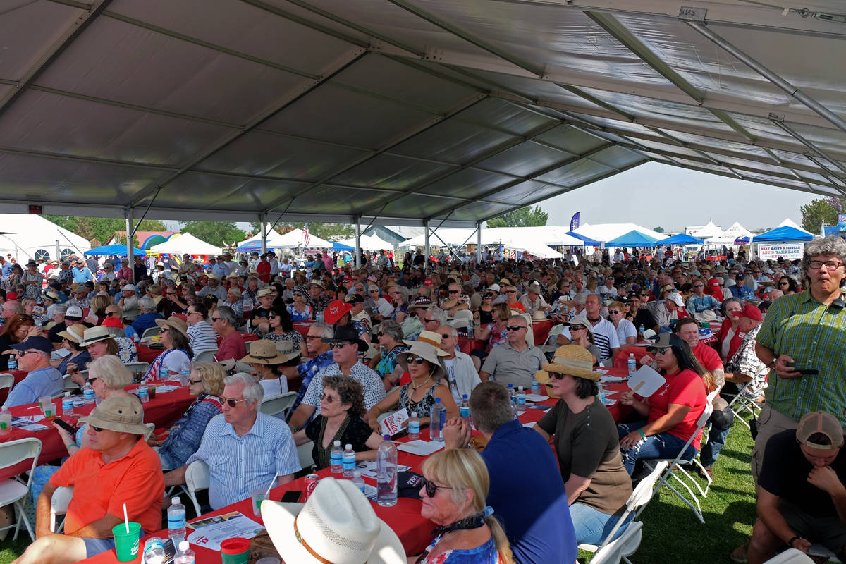 Organizers said some 4,000 people attended the 6th annual Basque Fry in Gardnerville, Nev., on ...