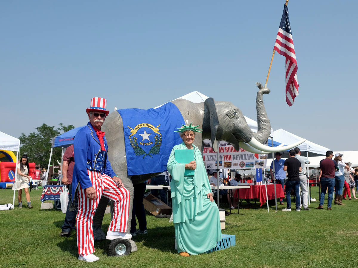 A scene from the 6th annual Basque Fry in Gardnerville, Nev., on Saturday, Aug. 14, 2021. The a ...