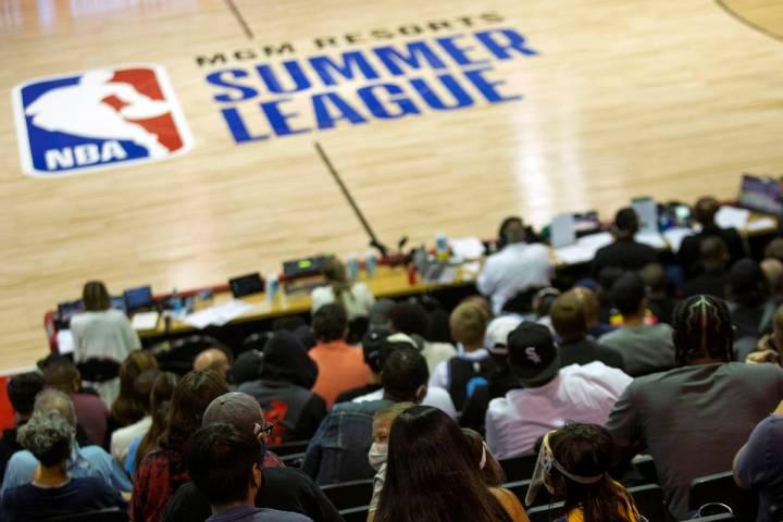 Fans attend an NBA Summer League basketball game between the Sacramento Kings and the Washingto ...