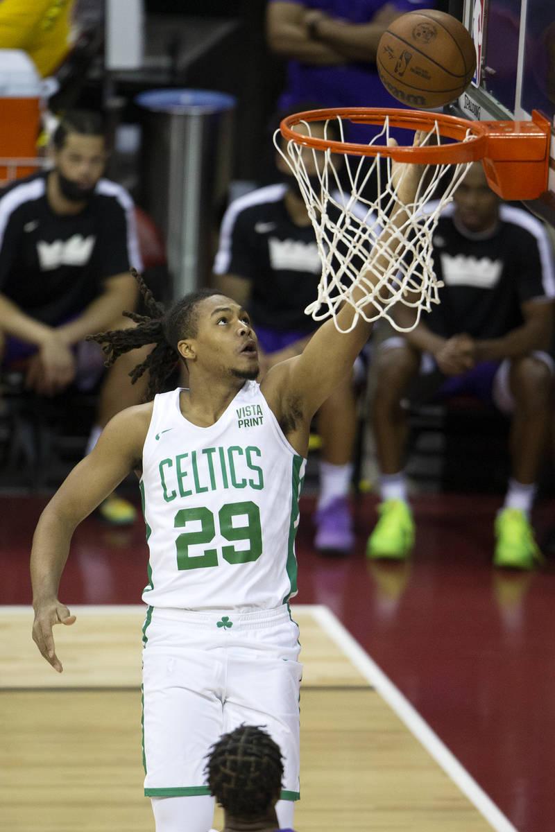 Boston Celtics guard Juhann Begarin (29) during the first half of a NBA Summer League champions ...