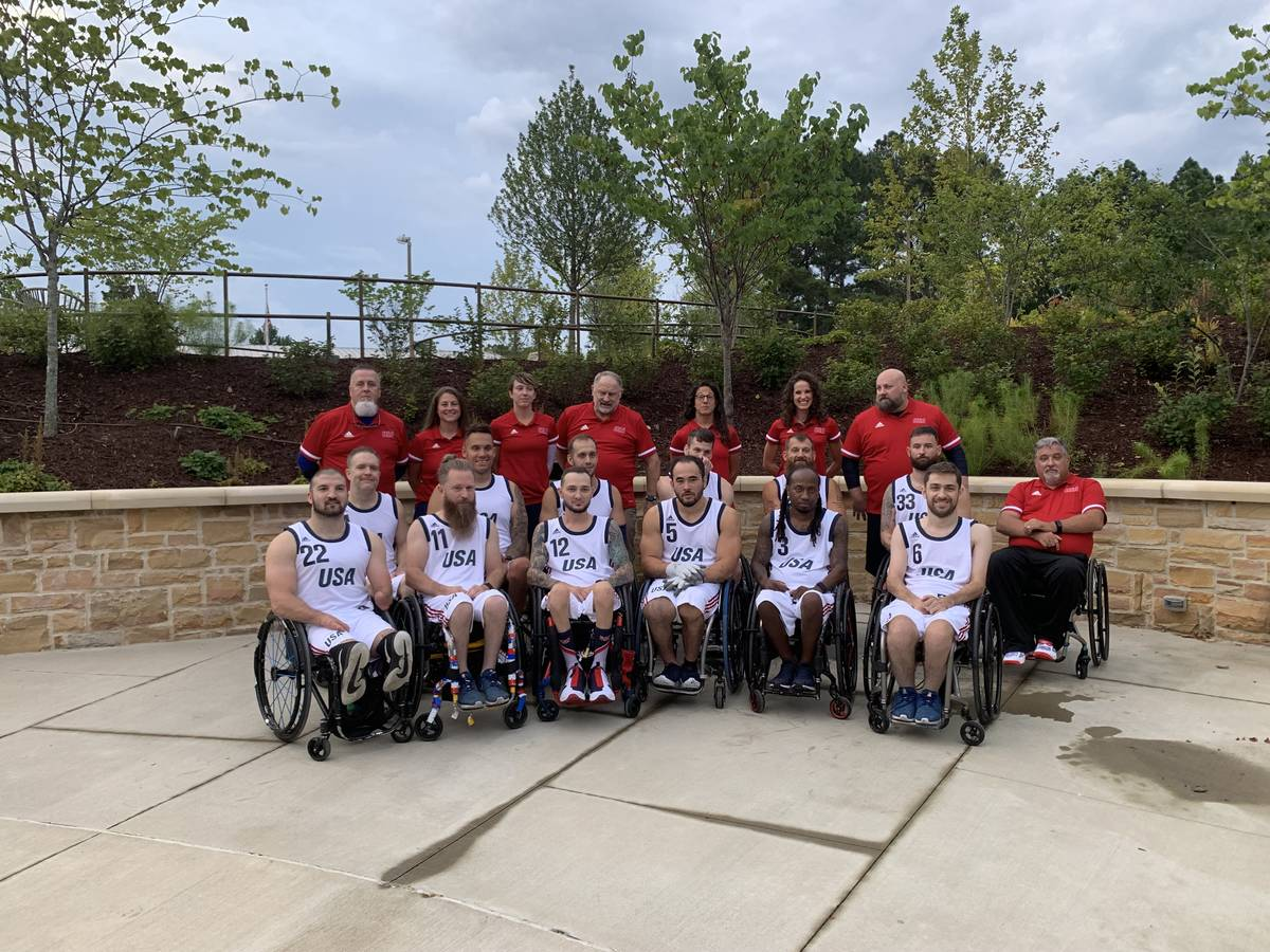 The U.S. Paralympic wheelchair rugby team. Photo courtesy of Bob Murray and USA Wheelchair Rugby.