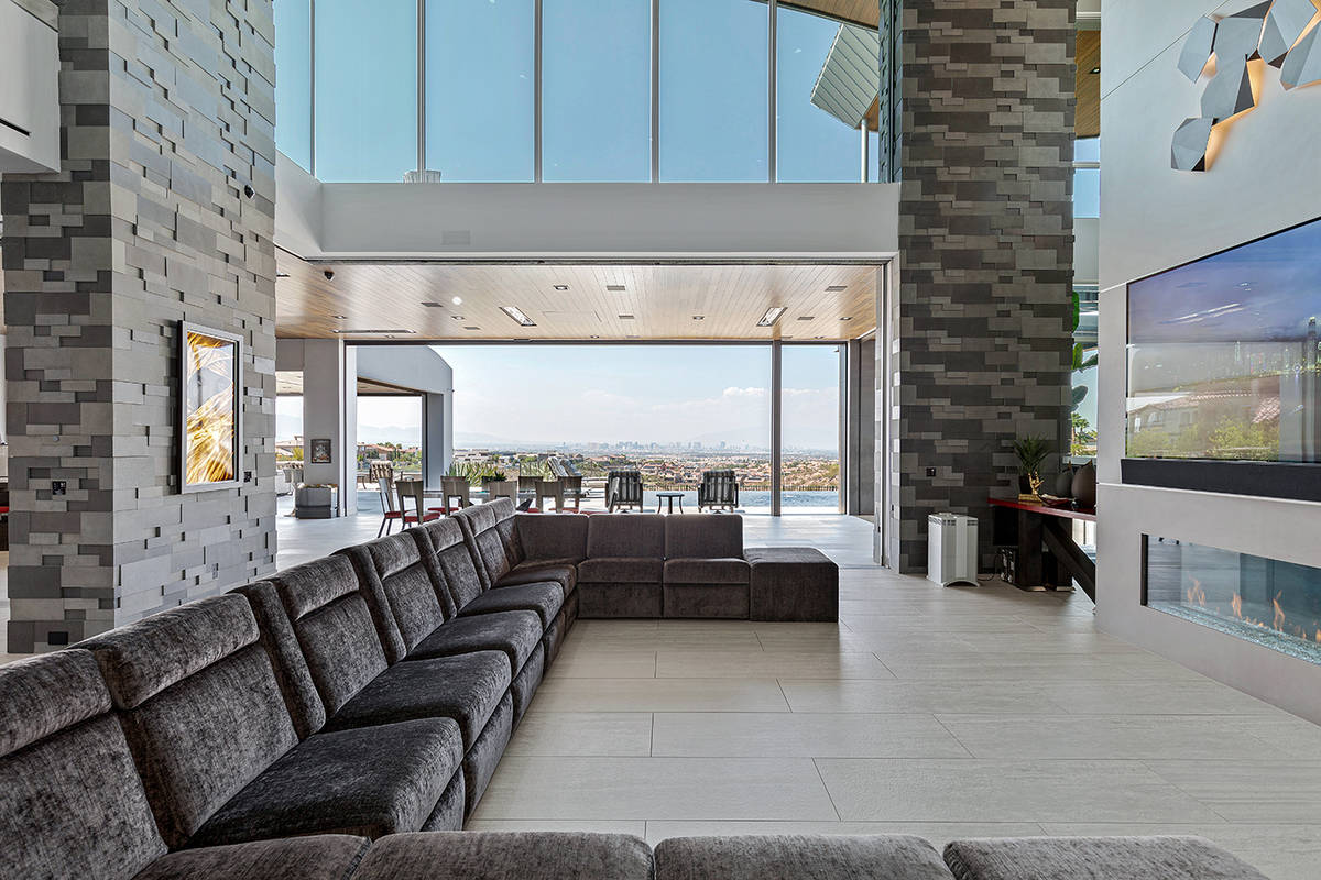 The home has views of the Strip. (The Ivan Sher Group)