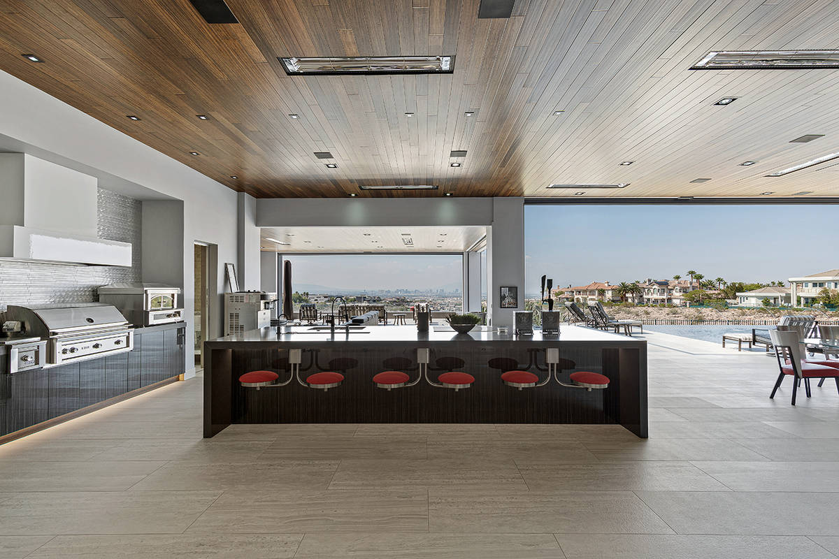 The outdoor kitchen. (The Ivan Sher Group)
