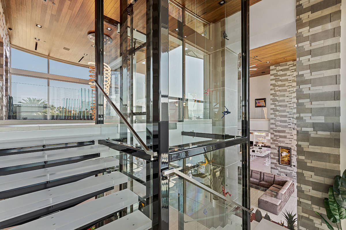 The elevator has glass walls. (The Ivan Sher Group)