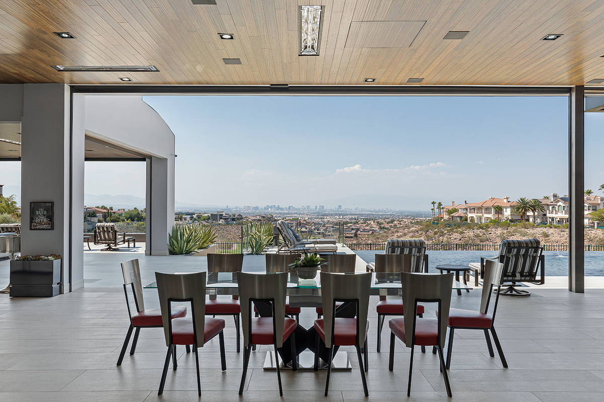 The home was built for entertainment and features indoor/outdoor living features. (The Ivan She ...
