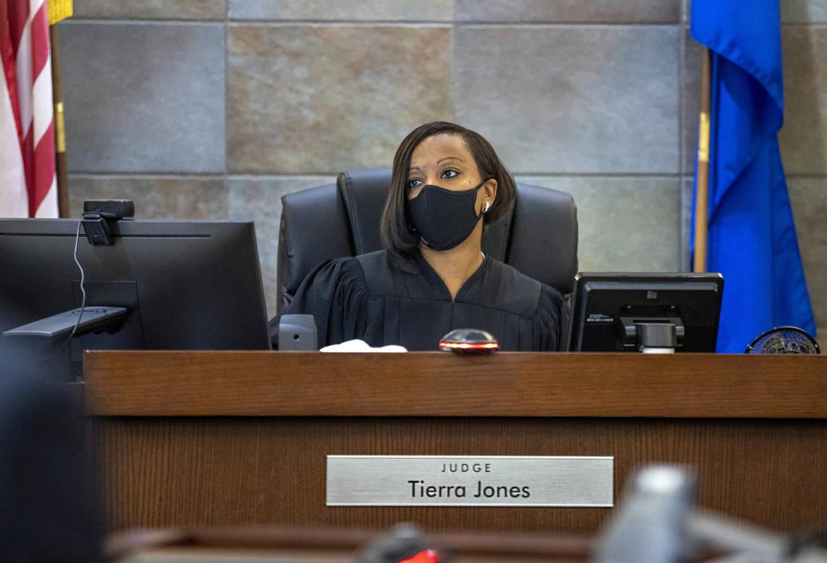 Judge Tierra Jones Initial speaks during the arraignment for Samantha Moreno-Rodriguez, the mot ...