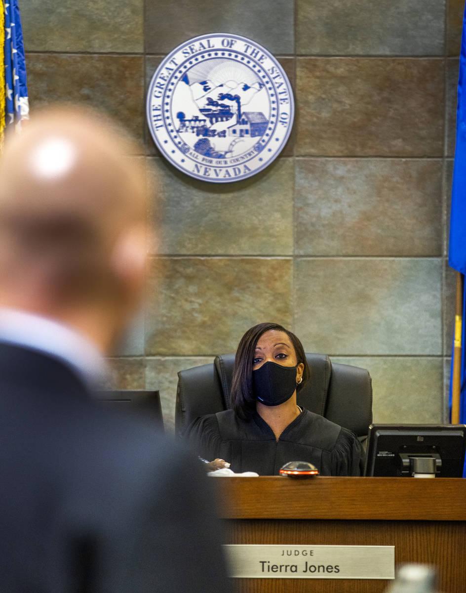 Judge Tierra Jones Initial speaks prior to the arraignment for Samantha Moreno-Rodriguez, the m ...