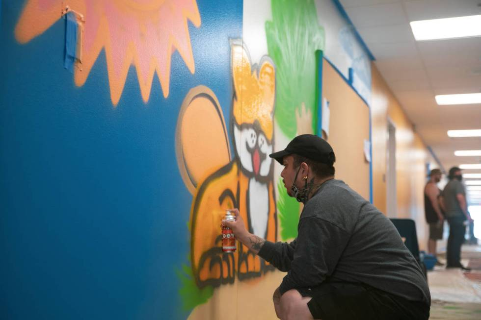 Graffiti Park Mural at Myrtle Tate Elementary School. (Shawn Maguire)