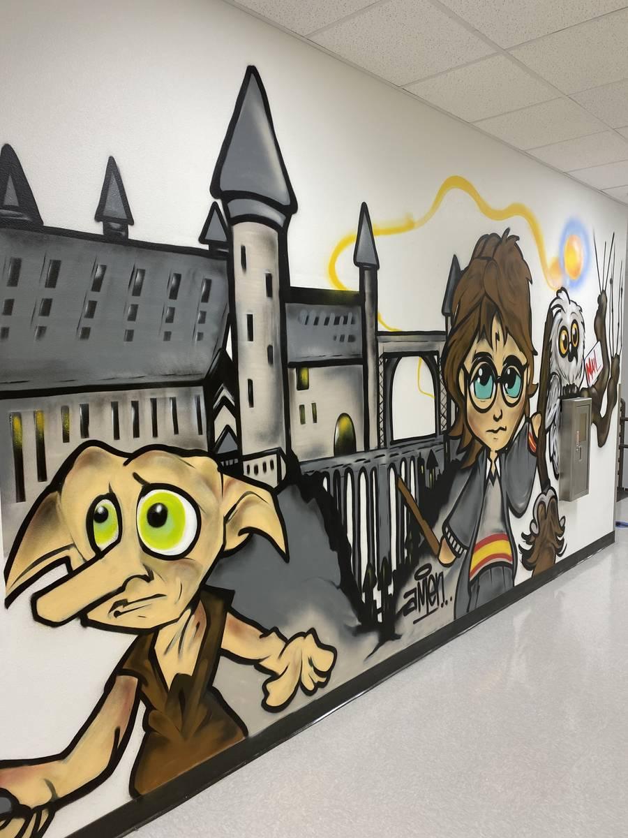 Graffiti Park Mural at Bertha Ronzone Elementary School. (Daniel Bulgatz)