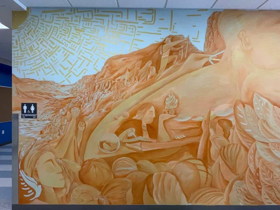 Mural by Israel Sepulveda at Myrtle Tate Elementary School (Israel Sepulveda)