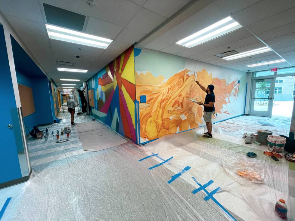 Mural by Israel Sepulveda at Myrtle Tate Elementary School (Shawn Maguire)