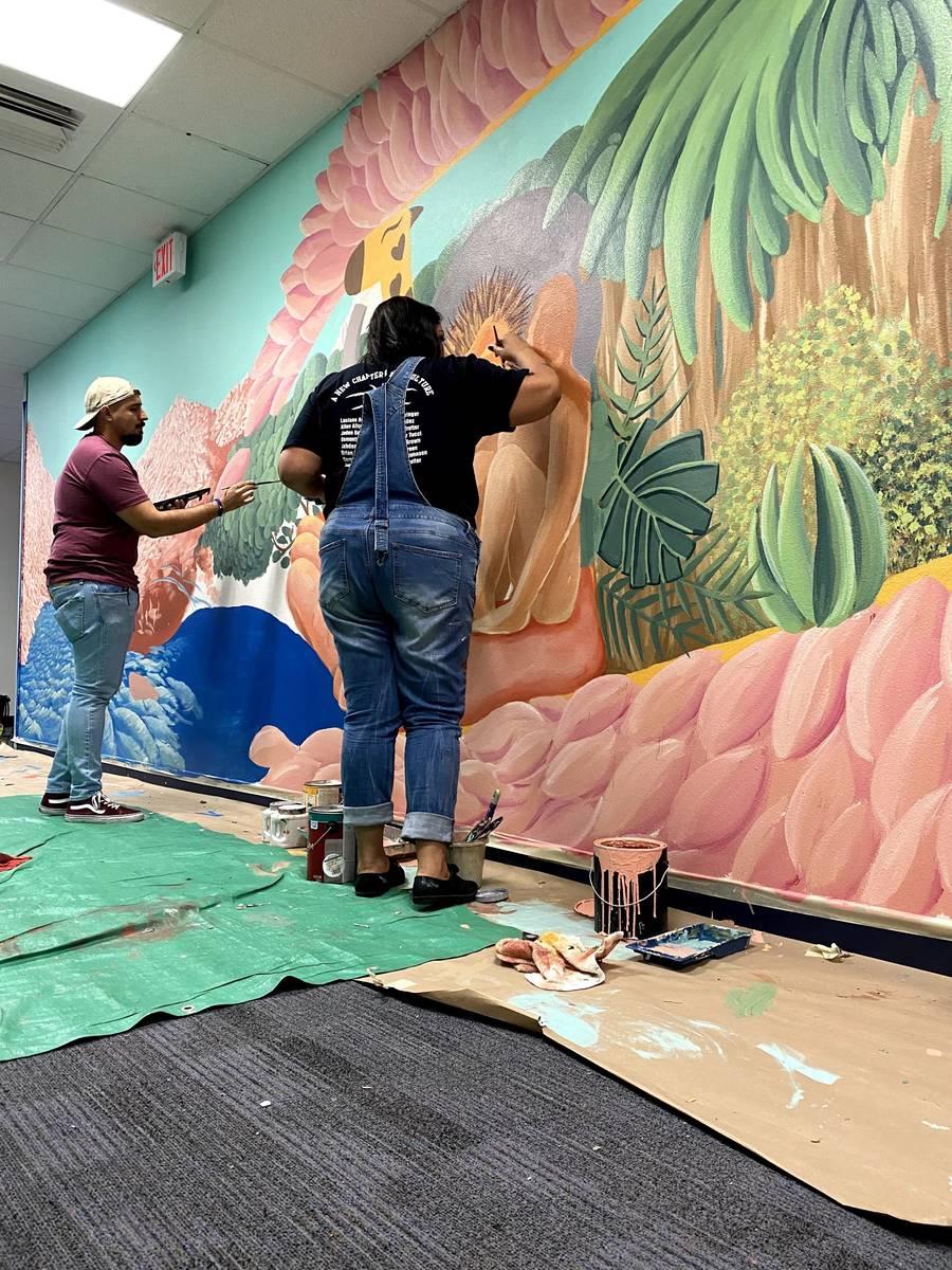 Mural by Israel Sepulveda at Arturo Cambiero Elementary School (Israel Sepulveda)