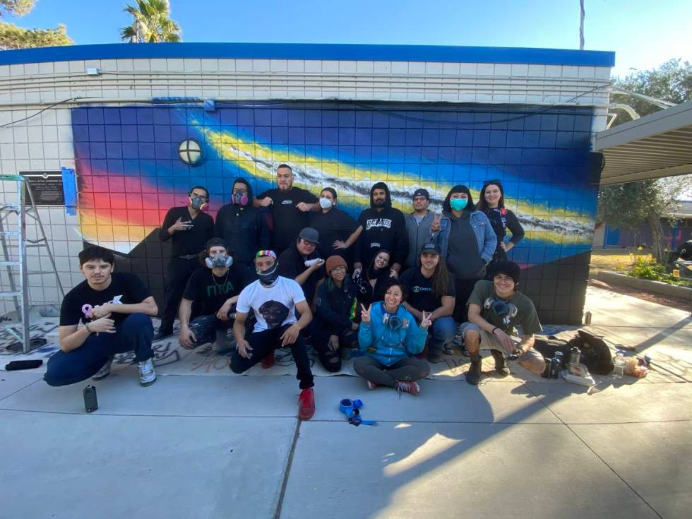 Graffiti Park artists at Martin Luther King Elementary School. (Shawn Maguire)